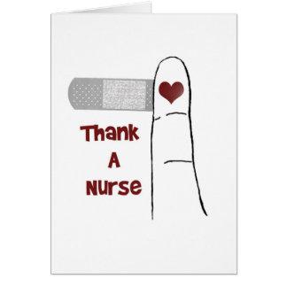 ナースのブランクの挨拶状を感謝していして下さい カード