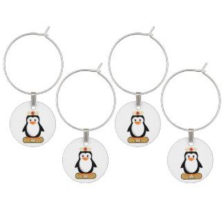 ナースのペンギン(w/bandaid) ワインチャーム
