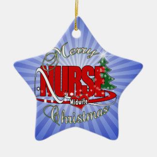 ナースの助産婦のクリスマス セラミックオーナメント