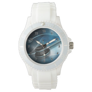 ナースの医学の聴診器 腕時計