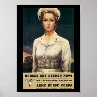 ナースの必要な第二次世界大戦 ポスター