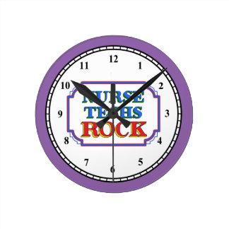ナースの技術の石 ラウンド壁時計