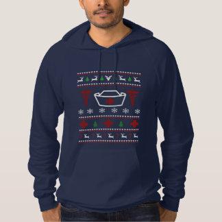 ナースの醜いクリスマスのセーター パーカ