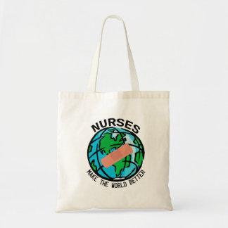 ナースは世界によりよいバッグをします トートバッグ