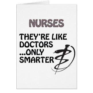 ナースは医者より頭が切れるです カード