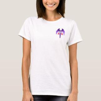 ナースは彼らの翼のケリュケイオンの紫色のTシャツを得ます Tシャツ