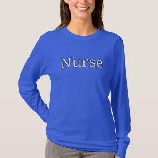 """""""ナース""""、デザイナーワイシャツのプリント Tシャツ"""