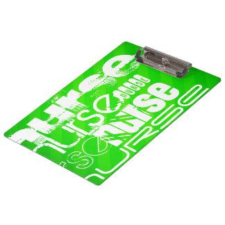 ナース; ネオン緑のストライプ クリップボード