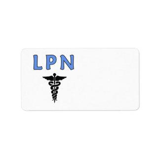 ナースLPNのケリュケイオン 宛名ラベル