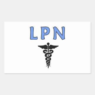 ナースLPNのケリュケイオン 長方形シール