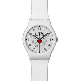 ナースLPN愛入れ墨 腕時計