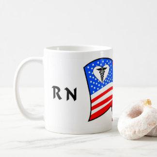 ナースRN米国のプライド コーヒーマグカップ