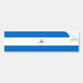 ニカラグアかニカラグアの旗 バンパーステッカー