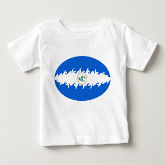 ニカラグアのすごい旗のTシャツ ベビーTシャツ