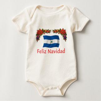 ニカラグアのクリスマス ベビーボディスーツ