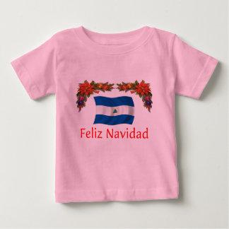 ニカラグアのクリスマス ベビーTシャツ
