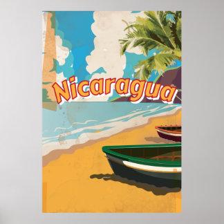 ニカラグアのヴィンテージの休暇ポスター ポスター