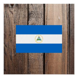 ニカラグアの国旗 ポスター