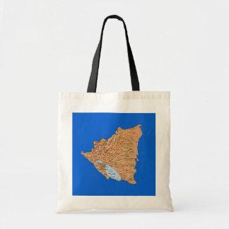 ニカラグアの地図のバッグ トートバッグ
