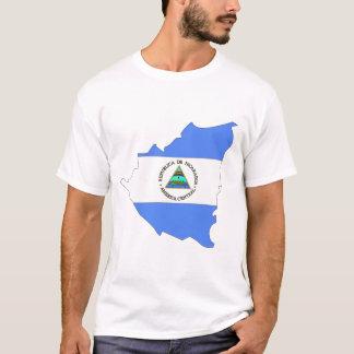 ニカラグアの旗の地図 Tシャツ