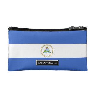 ニカラグアの旗 コスメティックバッグ