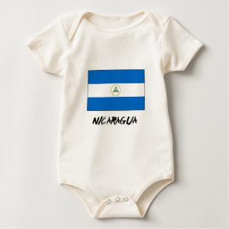 ニカラグアの旗 ベビーボディスーツ