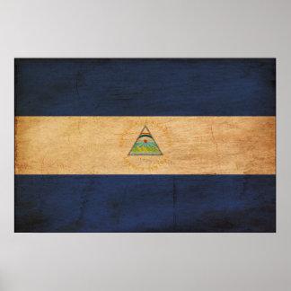 ニカラグアの旗 ポスター