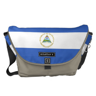 ニカラグアの旗 メッセンジャーバッグ
