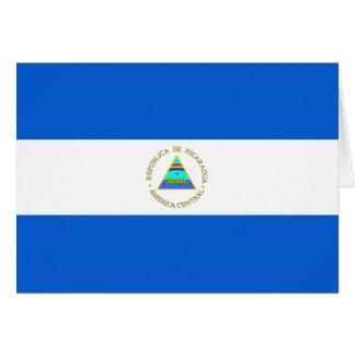 ニカラグアの旗Notecard カード