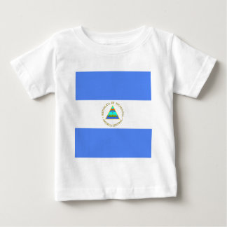 ニカラグアの高品質な旗 ベビーTシャツ