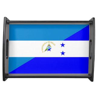 ニカラグアホンジュラスの旗の国の半分の旗の記号 トレー