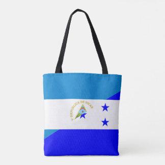 ニカラグアホンジュラスの旗の国の半分の旗の記号 トートバッグ