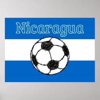 ニカラグア|のフットボールの共和国 ポスター