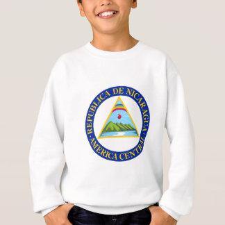 ニカラグア-または記号旗か紋章または紋章付き外衣 スウェットシャツ