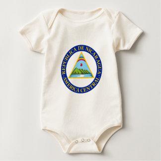 ニカラグア-または記号旗か紋章または紋章付き外衣 ベビーボディスーツ