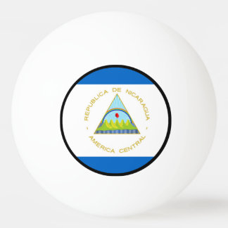 ニカラグア-ラテンアメリカの旗 卓球ボール