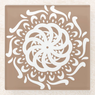 ニクズクの曼荼羅 ガラスコースター