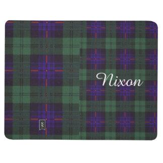 ニクソンの一族の格子縞のスコットランドのキルトのタータンチェック ポケットジャーナル