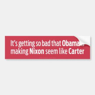 ニクソンを作っているオバマはカーターのようにようです バンパーステッカー