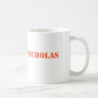 ニコラスのオレンジ名前 コーヒーマグカップ