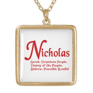 ニコラスのネックレス ゴールドプレートネックレス