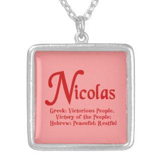 ニコラスのネックレス シルバープレートネックレス