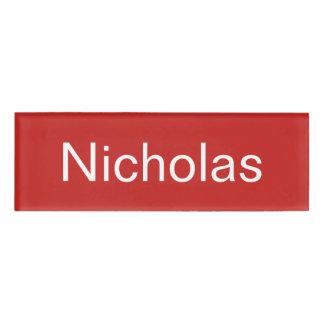 ニコラスの名札 名札