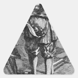 ニコラスの牧師のZabagliaの風刺漫画 三角形シール