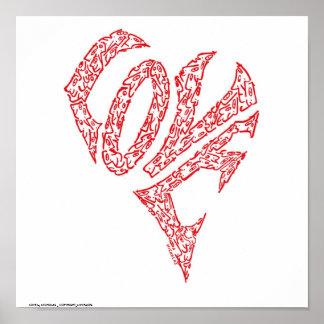 ニコラスの_COPYRIGHT_MINIFACESによる愛 ポスター