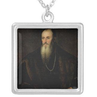 ニコラスPerrenot de Granvelle 1548年のポートレート シルバープレートネックレス