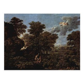 ニコラスPoussin著春(地上の楽園) ポストカード