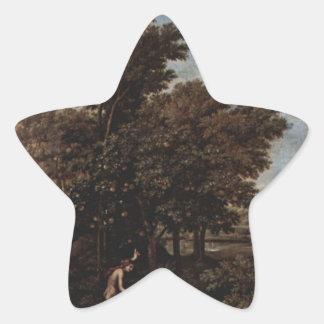 ニコラスPoussin著春(地上の楽園) 星シール