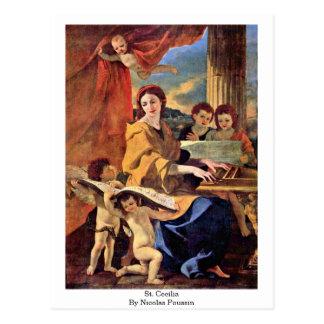 ニコラスPoussin著St Cecilia ポストカード