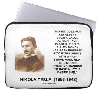 ニコラ・テスラのお金の価値発見のより容易な生命 ラップトップスリーブ